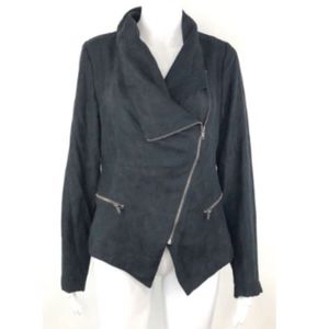 NWT Rampage Black Faux Suede Moto Jacket